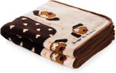 Smart Pet Love Snuggle Blanket Bruin Puppy - Hond & Kat - 122 x 81 cm
