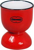 CABANAZ -  EGG CUP RD, ceramic, Scarlet red