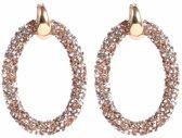 Cilla Jewels oorbellen Crystal Oval Goudkleurig Brown