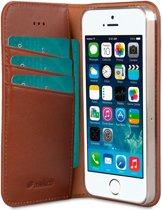 Melkco Italian Cowhide Apple iPhone 5 / 5S / SE Book Case Bruin