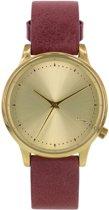 Komono Estelle Classic Burgundy KOM-W2452 - Horloge - 35 mm - Leer - Rood