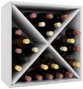 Wijnkast wijnrek Weino III modulair samen te stellen wit
