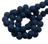 Glaskralen Pumice (4 mm) Dark Blue (100 Stuks)
