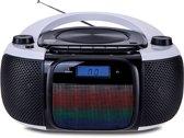 Daewoo DBF197 Analog/Digital 3W Zwart, Zilver CD radio