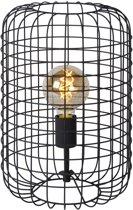 Lucide ESMEE - Tafellamp - Ø 26 cm - E27 - Zwart