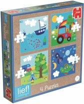 Puzzel Lief 4-in-1 Jongen