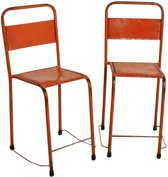 One World Interiors Iron Stoel – Oranje – Metaal
