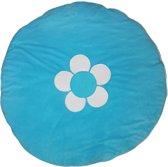 ISI MINI - Boxkleed / Speelkleed - Aqua met bloem - Limited Edition - Rond