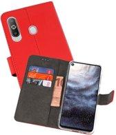 Wallet Cases Hoesje voor Samsung Galaxy A8s Rood