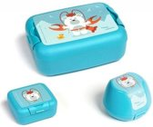 Amuse Lunchset Animal Carnival Junior Blauw 3-delig