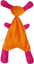 Sussekind Doggy van oranje/fuchsia katoenen tricot badstof