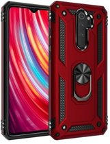 Teleplus Xiaomi Redmi Note 8 Pro Case Vega Ringed Tank Cover Red hoesje