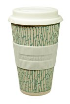 ZUPERZOZIAL - koffie-to-go beker, based on bamboo & corn, 300ml