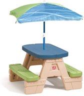 Step2 Picknicktafel Inklap Playful Picnic Met Parasol 94 Cm