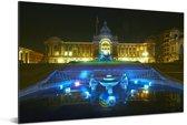 Schitterende blauwe fontein voor het raadhuis in Birmingham Aluminium 60x40 cm - Foto print op Aluminium (metaal wanddecoratie)