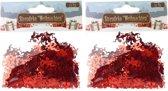 Confetti rode engeltjes 30 gram - Kerstversieringen engel confetti rood