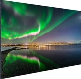 Noorderlicht in Tromso Aluminium 120x80 cm - Foto print op Aluminium (metaal wanddecoratie)