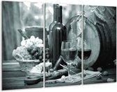Glas schilderij Wijn, Keuken | Grijs, Groen | 120x80cm 3Luik | Foto print op Glas |  F006773