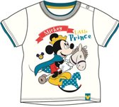 Mickey Mouse shirt Little prince wit maat 62/68