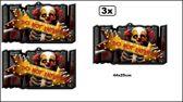 3x Halloween bord  clown DO NOT ENTER 44x25cm