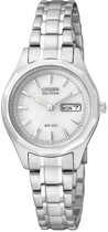 Citizen Eco-Drive - Horloge - Staal - 26 mm - Zilverkleurig / Wit - Solar uurwerk