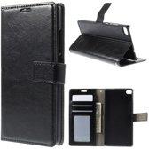 Cyclone wallet hoesje zwart Sony Xperia Z5 Premium
