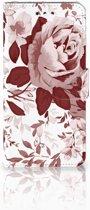 LG G7 Thinq Uniek Boekhoesje Watercolor Flowers