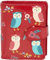Shagwear Trendy & Funky Compact Vrouwen Portemonnee - Owl Garden / Uil (009912sm)
