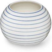 Ann Black Stripes - Suikerpot - met Smalle Lijnen Patroon - Blauw