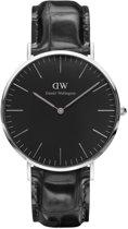 Daniel Wellington Classic Black Reading DW00100135 - Horloge - Leer - Zwart - Ø 40mm