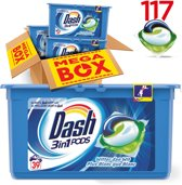 Dash 3-in-1 Pods Regular 3x39 Pods - Kwartaalbox - Wasmiddel Capsules
