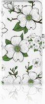 Motorola Moto E5 Plus Boekhoesje Design Dogwood Flowers