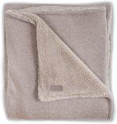 Deken 100x150cm Natural knit sand / teddy