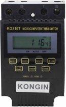 KG316T 12V LCD Digitale Display Microcomputer Tijdschakelaar Schakelaar