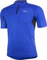 Rogelli Perugia Jersey SS Fietsshirt - Korte Mouw - Blauw/Zwart - Maat L
