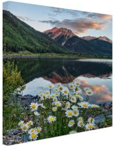 Crystal Lake Amerika Canvas 20x30 cm - klein - Foto print op Canvas schilderij (Wanddecoratie woonkamer / slaapkamer)