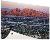 Las Vegas en omgeving Tuinposter 120x80 cm - Tuindoek / Buitencanvas / Schilderijen voor buiten (tuin decoratie)