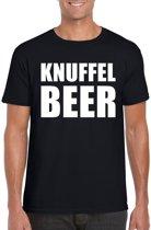 Knuffel beer tekst t-shirt zwart heren XL