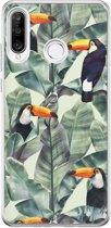 Huawei P30 Lite siliconen hoesje - Toucan jungle