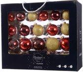 Glas Kerstballen Mix Doos 42 Stuks - Rood Goud