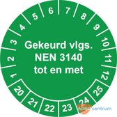 Keuringssticker NEN 3140, Ø 30 mm, op rol (795 stickers)