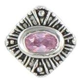 Quiges Bedel Bead - 925 Zilver - Roze Zirkonia Kraal Charm - Z518