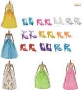 Setje van 5 verschillende Prinsessenjurken / Avondjurken inclusief 10 paar schoenen (Jurken kunnen afwijken van de getoonde afbeelding) - NBH®