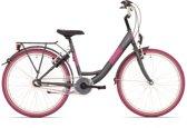 Kinderfiets Bike Fun Blizz meisjes 24 inch nexus 3 matt antraciet