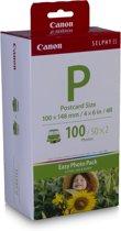 Canon EP100 Fotopapier - briefkaartformaat (100x148 mm)