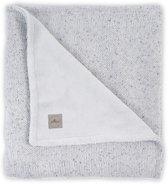 Jollein Confett knit Deken 100x150cm grijs  teddy