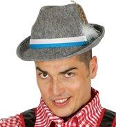Oktoberfest - Grijze Tiroler hoed met veer voor volwassenen