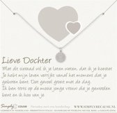 Simply Because Lieve Dochter! Ketting (zilver, bedel bloem) 42 cm