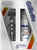 Gillette Mach3 - Giftset - Scheermes + Irritation Defense Scheergel