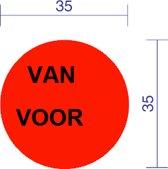 VAN / VOOR dia 35mm Fluor Rood